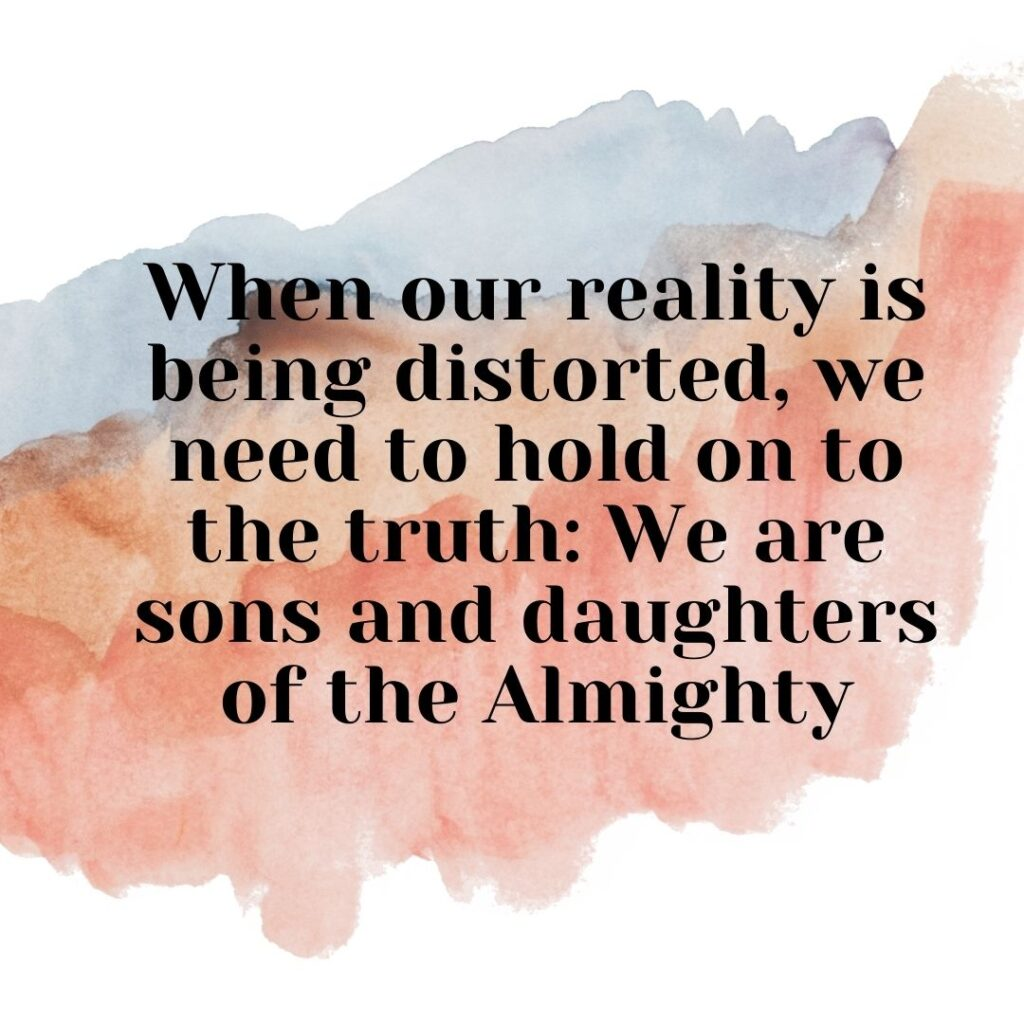 We must remember the truth and not be fearful